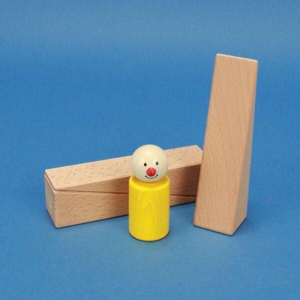 driehoekige houten bouwblokken 12 x 3 x 3 cm