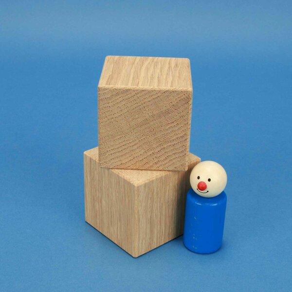 kubus blokken eik 6 cm