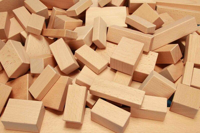 houten vierkante blokken