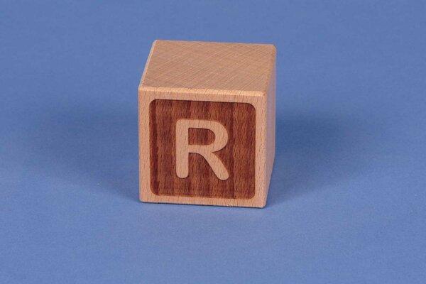 Houten naam blokken R negatief