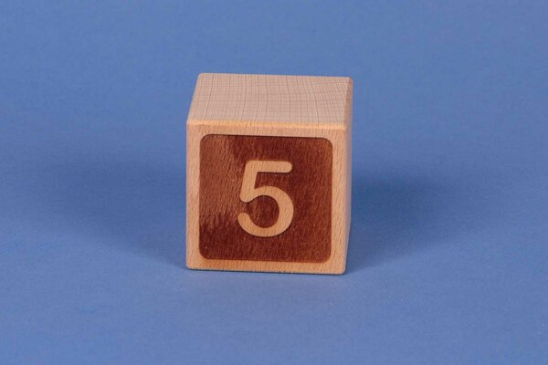 Houten naam blokken 5 negatief