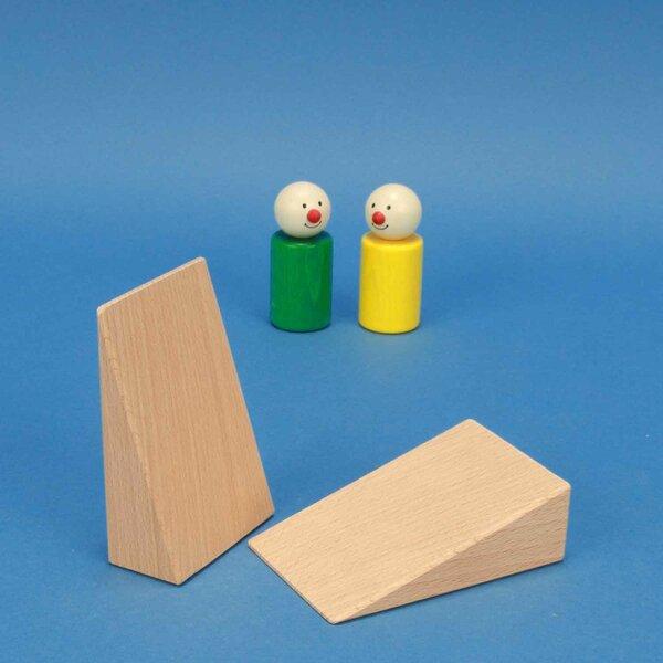 driehoekige houten bouwblokken 9 x 6 x 3 cm