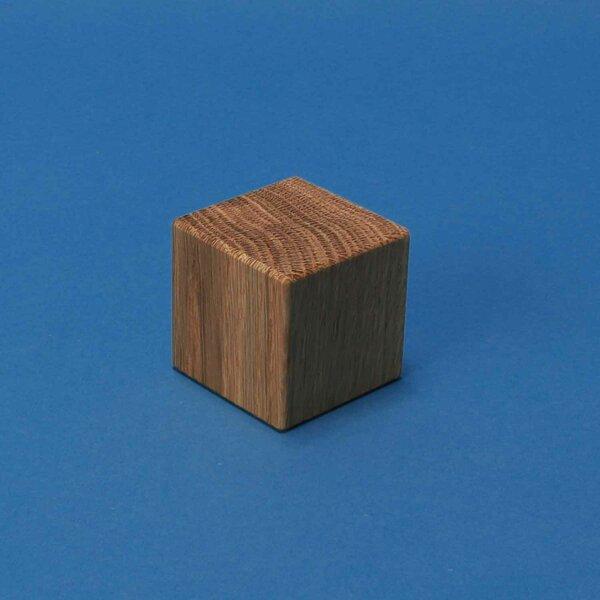 walnoot kubus blokken 4,5 cm
