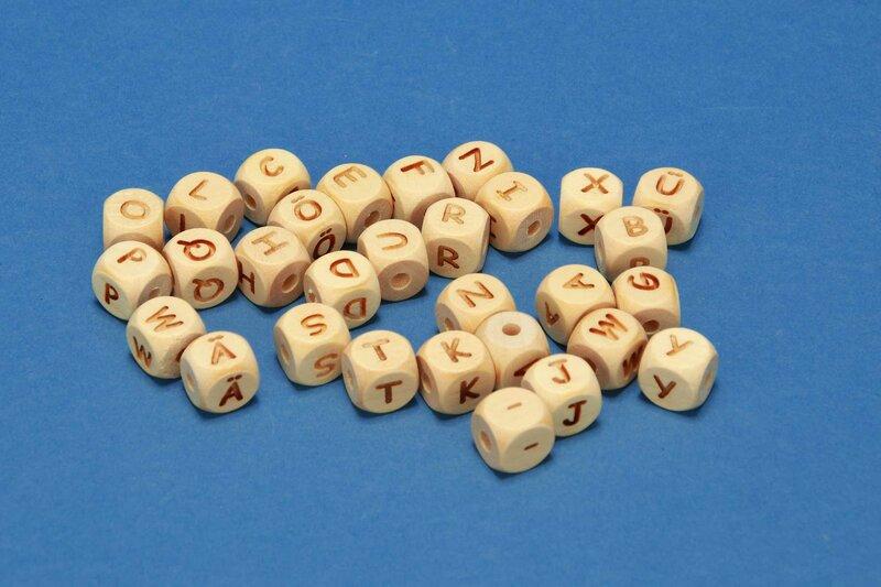 letter beads alphabet beads