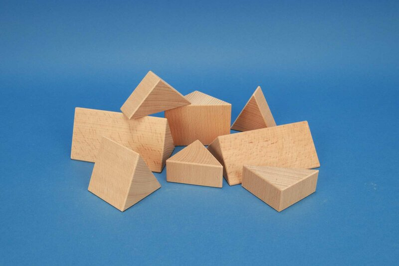 houten columns driehoekig 6 cm