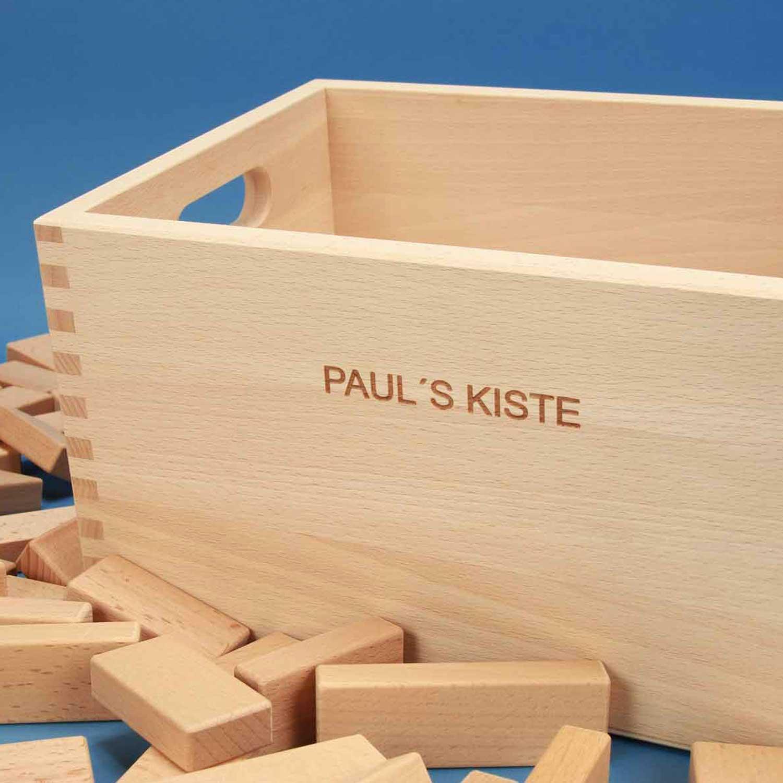 Kisten voor houten blokken