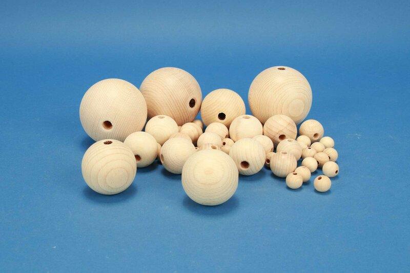 DIY-Houten ballen halfgeboord
