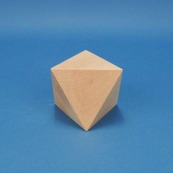Platonic solid Octahedron van beukenhout 10 cm
