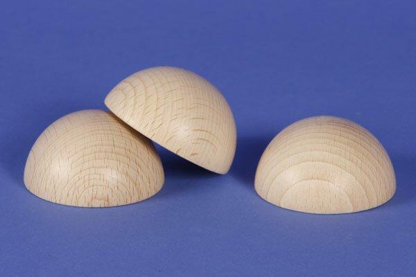 Halve houten ballen beuk Ø 2 inches