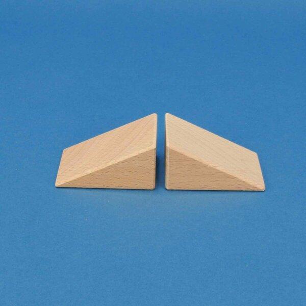 driehoekige houten blokken 60x45x30mm