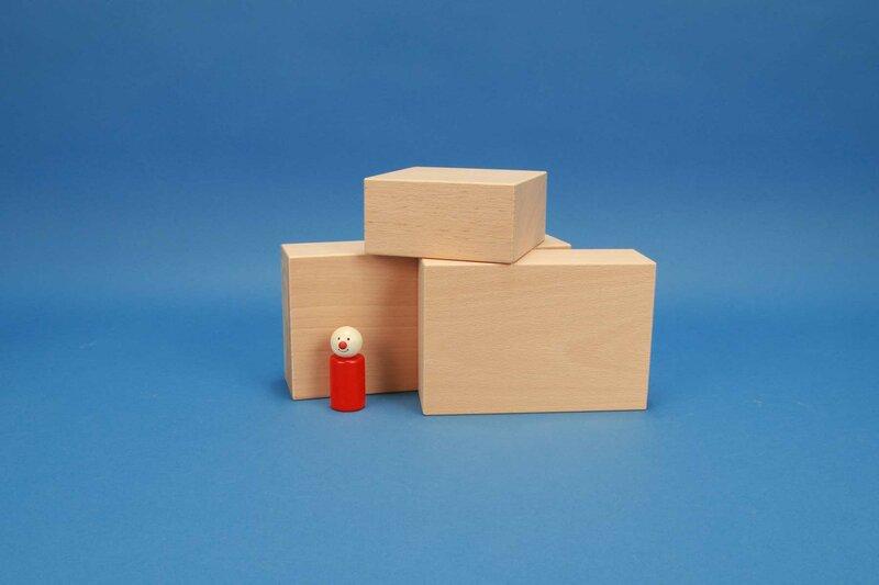 grote houten blokken 12 x 6 cm