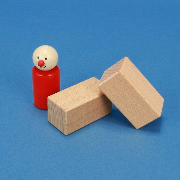 houten bouwblokken 6 x 3 x 3 cm