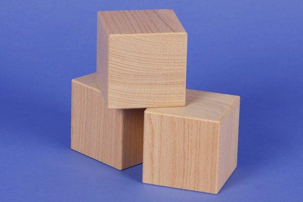 grote houten kubus 6 cm
