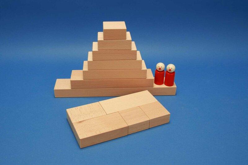 Fröbel houten blokken per stuk
