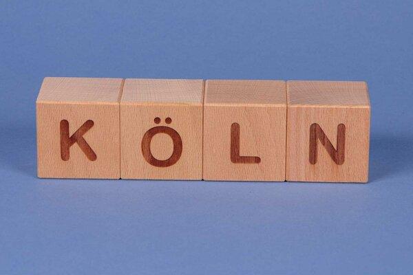 """Houten naam blokken """" KÖLN """""""