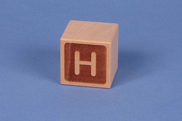 Houten naam blokken H negatief