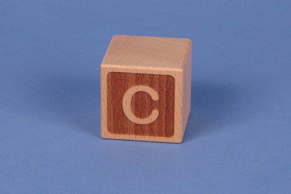 Houten naam blokken C negatief