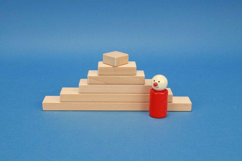 houten blokken kleine 3 x 1,5 cm