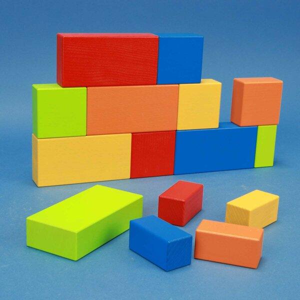 kleurrijke houten bouwblokken