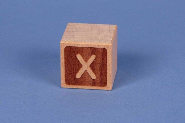 Houten naam blokken X negatief