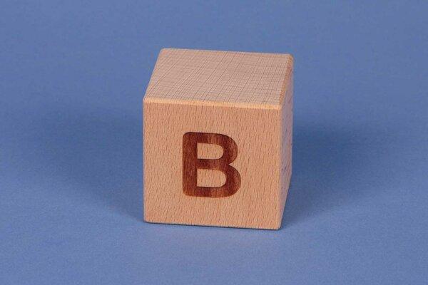 Houten naam blokken B positief