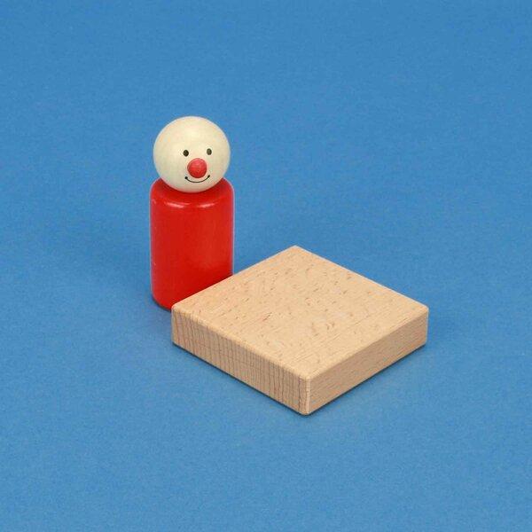 houten blokken 6 x 6 x 1,5 cm