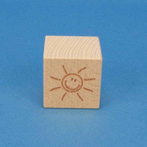 SMILE houten kubus 4,5 cm