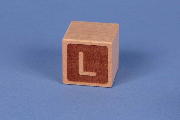 Houten naam blokken L negatief