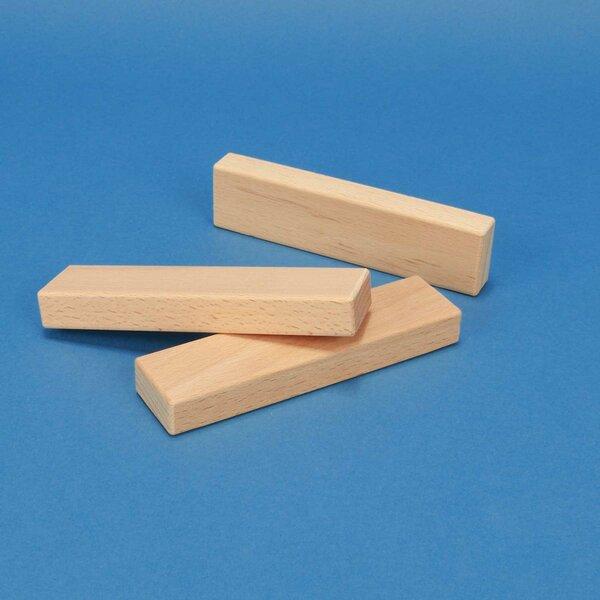 houten bouwblokken 12 x 3 x 1,5 cm