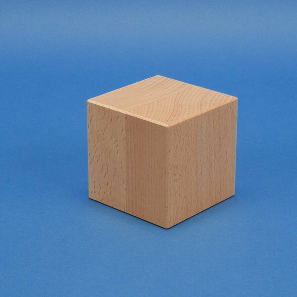 Deco houten kubus blokken 9 cm