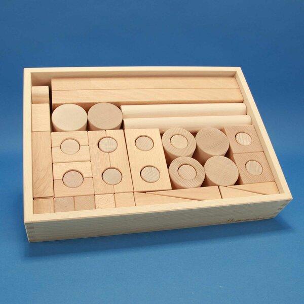 Froebel Set houten bouwblokken 57