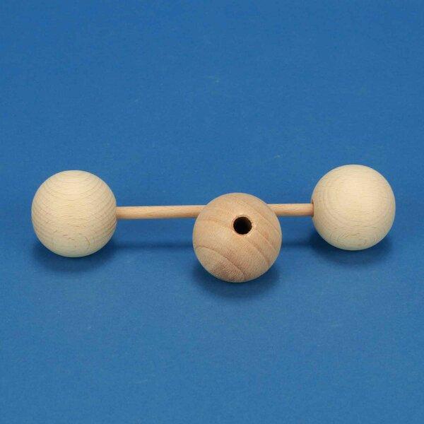 Houten ballen beuk Ø 45mm half boorgat 8mm