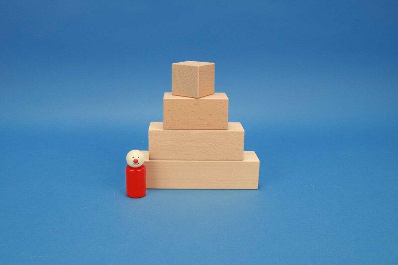 houten blokken kuboid 4,5 x 4,5 cm