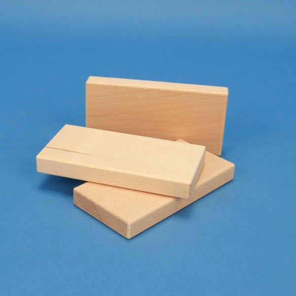 houten bouwblokken 12 x 6 x 1,5 cm