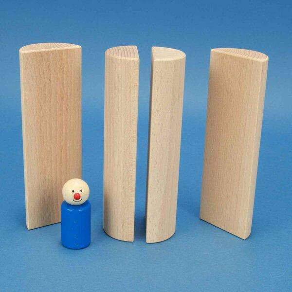 houten columns half Ø 6 x 18 cm