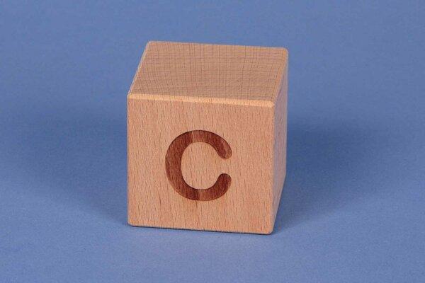 Houten naam blokken C positief