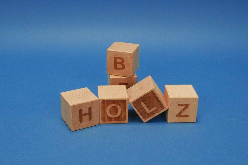 Houten naam blokken A-Z beukenhout 4,5 cm