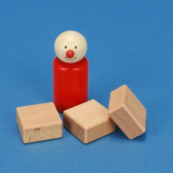 houten blokken 3 x 3 x 1,5 cm