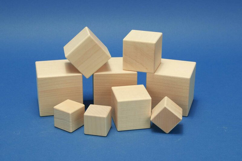 houten kubus esdoorn