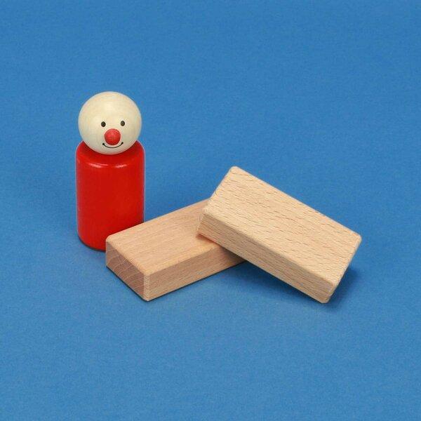 houten blokken 6 x 3 x 1,5 cm