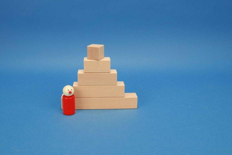 hoekige houten blokken 3 x 3 cm
