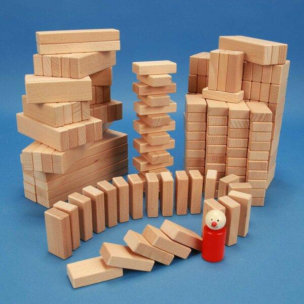 Set van 200 houten blokken van de serie 3 x 1,5 cm