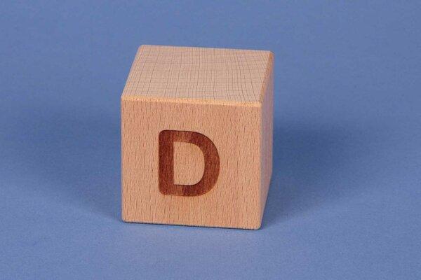 Houten naam blokken D positief