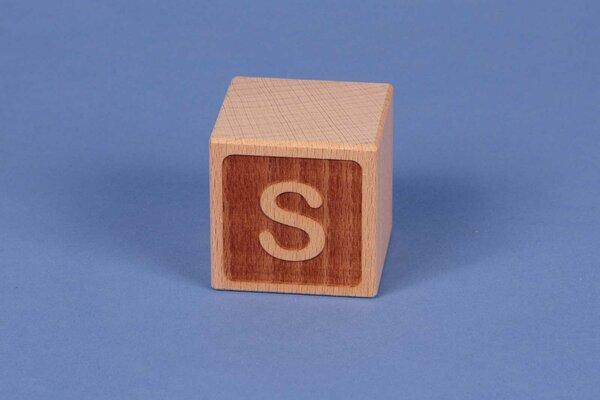 Houten naam blokken S negatief