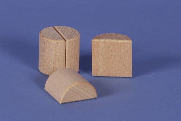 houten columns half Ø 3 x 3cm