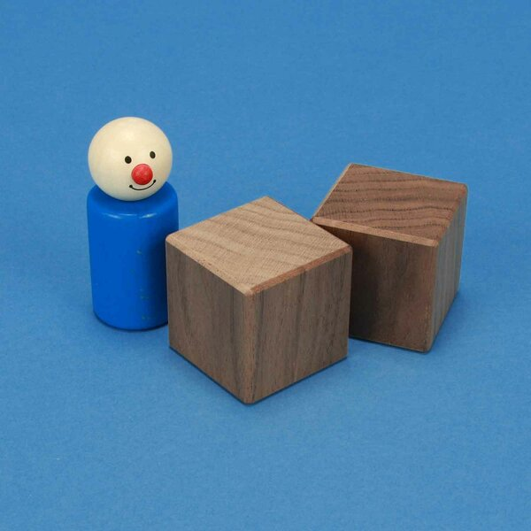 walnoot kubus blokken 4 cm
