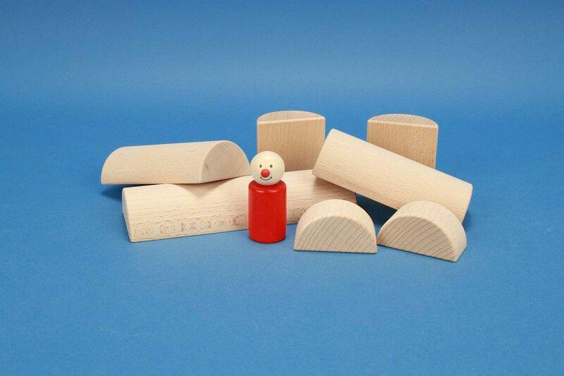 houten half-cilinders Ø 6 cm
