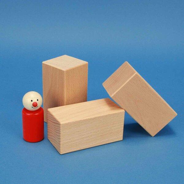 houten blokken 9 x 4,5 x 4,5 cm beuk