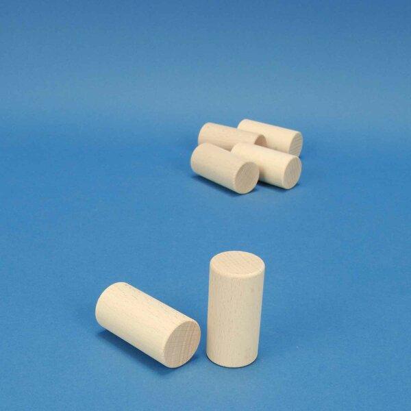 houten cylinder Ø 3 x 6 cm