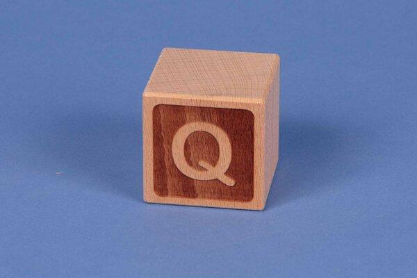 Houten naam blokken Q negatief